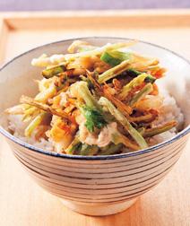 豚肉と山菜のかき揚げ丼