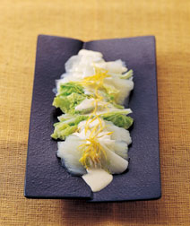 ゆで上げ白菜のゆずマヨソース