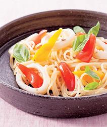イカとパプリカのスパゲティ