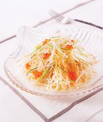 せん切り野菜の和風冷製パスタ