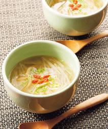 じゃがいもとザーサイのスープ