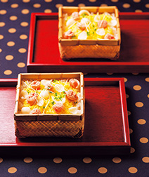 ゆり根の蒸し寿司
