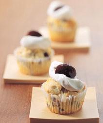 紫花豆のカップケーキ