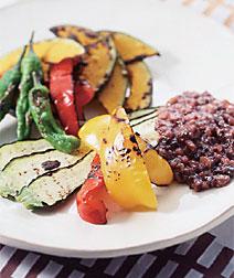 焼き野菜の雑穀ディップ