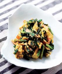 カレー風味の豆腐チャンプルー