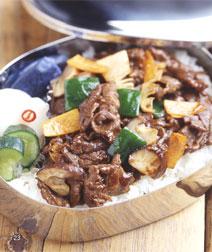 牛肉と野菜のテンメンジャン炒め弁当