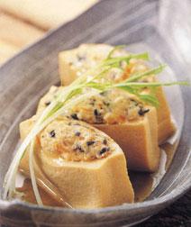 高野豆腐の肉詰め煮