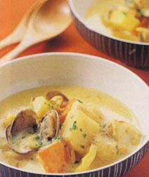 魚介と豆のカレーシチュー