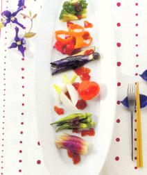 いろいろ野菜の土佐酢ゼリー