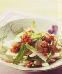 かぶとチキンの梅風味サラダ