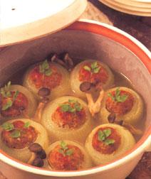 玉ねぎの肉詰め煮