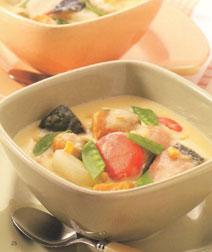 鮭と野菜のクリームチーズ煮