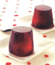 いちごの赤ワインゼリー