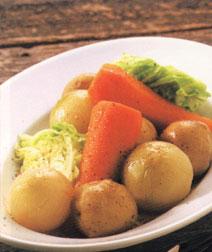 蒸し野菜のバターソース