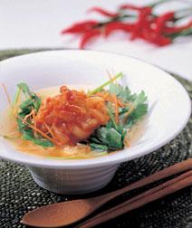 イカのピリ辛スープ飯