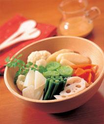 ゆで野菜のサラダ・セサミソース