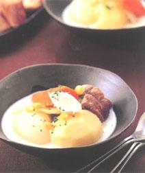 秋野菜のミルクポトフ