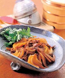 牛肉と玉ねぎのみそ炒め