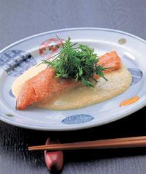 鮭のコーンソース
