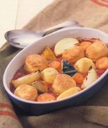 野菜とスコーンのオーブン焼き