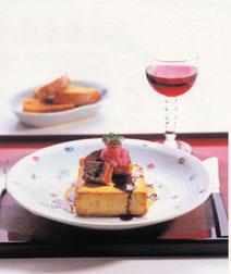 豆腐と牛肉のステーキ