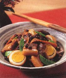小豆と豚肉のこってり煮