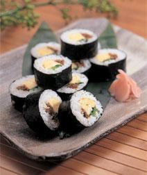 たまごと牛肉の巻き寿司