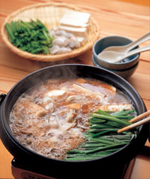 かきと豆腐の中華風鍋