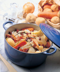 野菜と豆の白ワイン煮