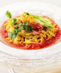 おろしトマトの冷やし中華