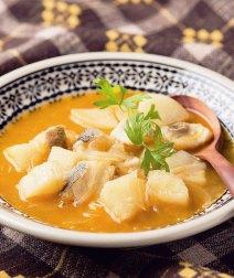 長いもとタラのスープ