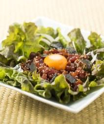 レタスとマグロの韓国風サラダ