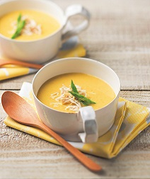 野菜と鶏肉のカレークリームスープ