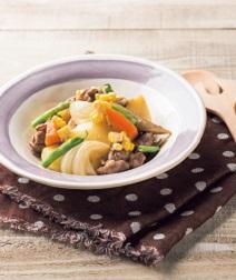 秋野菜と豚肉の塩バター煮