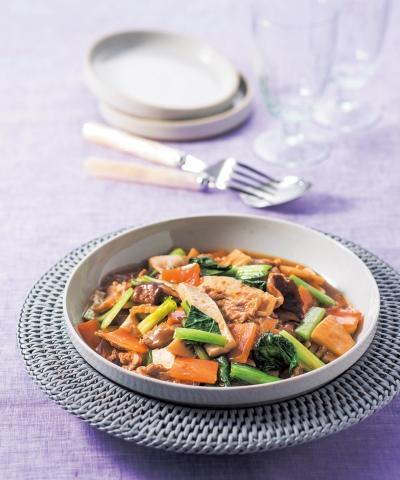 豚肉と豆腐の中華炒め