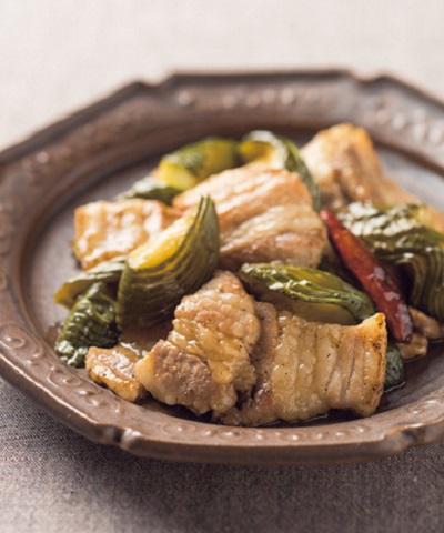ピクルスと豚バラ肉の炒めもの