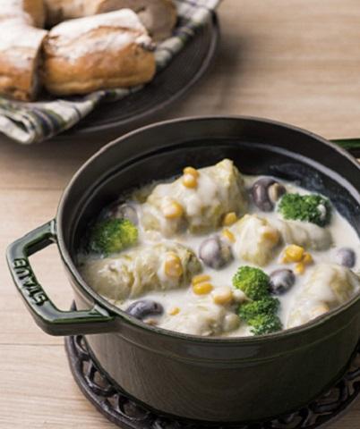 ロール白菜のミルクシチュー
