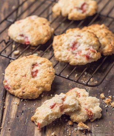 いちごのクッキー