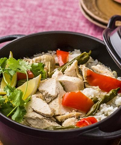 タイ風土鍋鶏ごはん