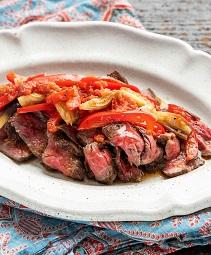 牛肉のタリアータ 夏野菜ソース
