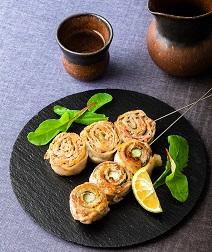 豚バラ肉と大葉の串焼き2種