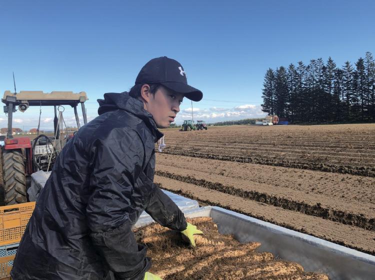 ▲生産農家での現場体験