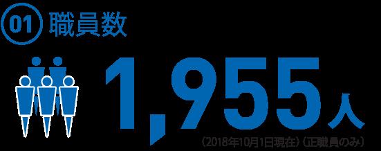 (01)  職員数1,955名