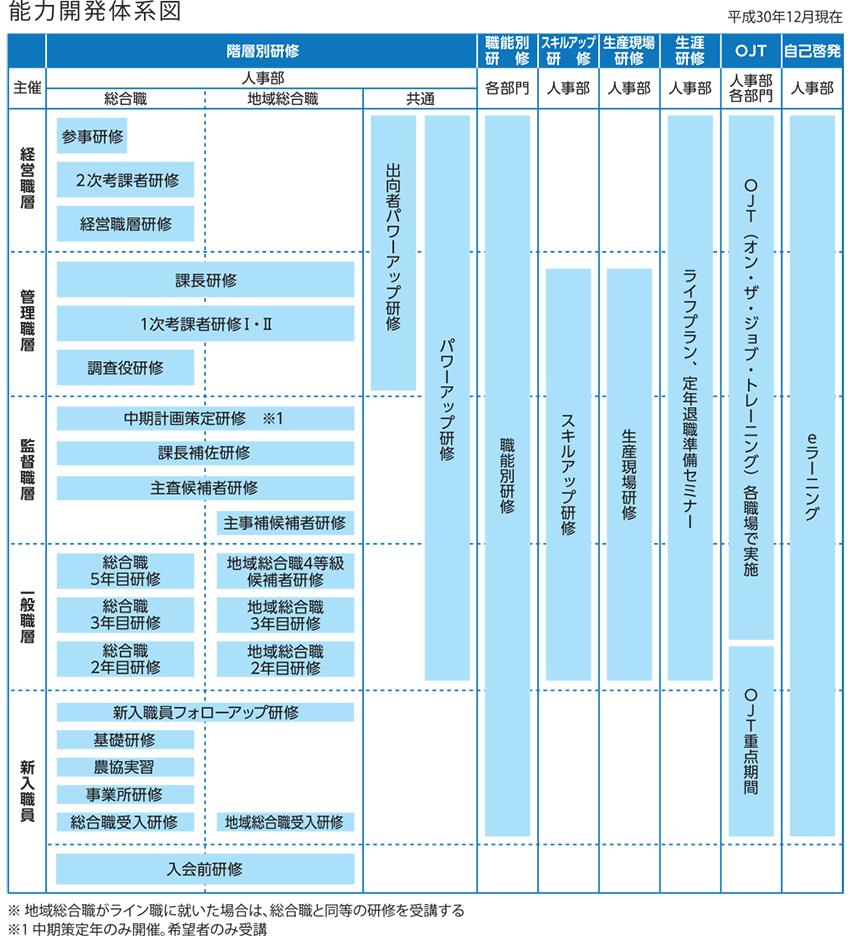 能力開発体系図